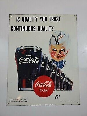 """RARE 1995 Coca Cola Metal/Tin Sign 10 1/2 """"x 14"""" Vintage Collectible"""