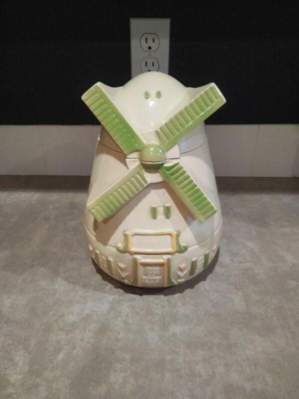 Vintage Dutch Windmill Cookie Jar
