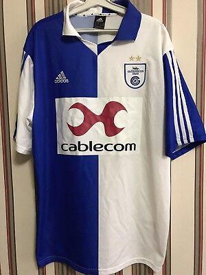 FC GRASSHOPPER Zurich 2002/03 Swiss Soccer Shirt Top Adidas Men's Sz XL image