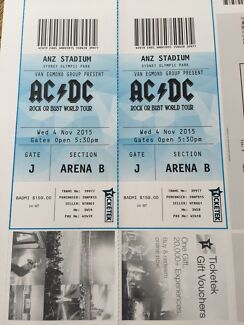 ACDC Sydney Wednesday 4th Nov 2015 Warriewood Pittwater Area Preview