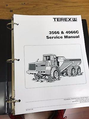 Terex 3566 4066c Articulated Dump Truck Shop Repair Service Manual