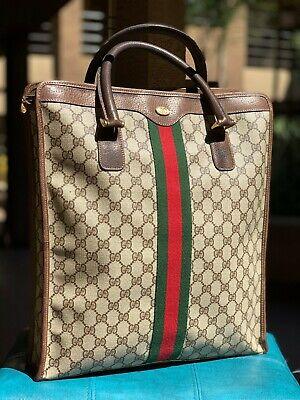 Vintage Gucci Coated Canvas GG Supreme Monogram Tote Bag 010.378