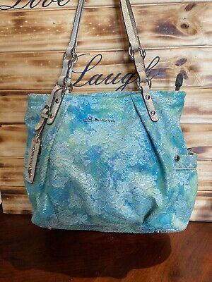 b makowsky large leather handbag Turquoise