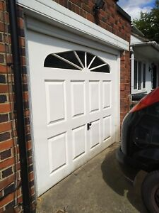 Automatic Garage Door White In Good Condition Up And Over, Frame, Remotes, Key