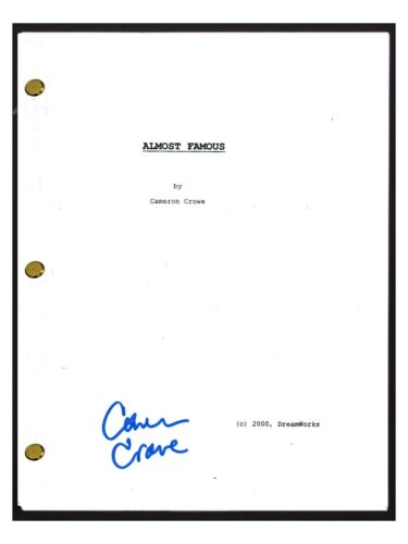 Cameron Crowe Signed Autographed ALMOST FAMOUS Full Movie Script COA