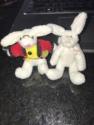 Mini Stuffed Animals Tiny Articulated Rabbits -LL Knickerbocker The White