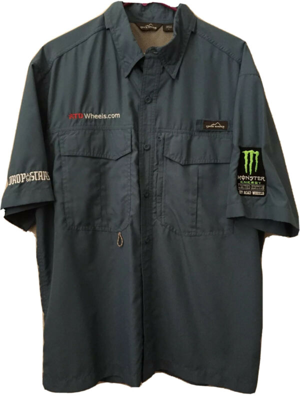 Eddie Bauer Drop Stars Off Road Monster Energy Vented Outdoors Shirt Size Large