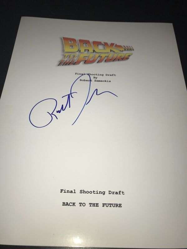 ROBERT ZEMECKIS SIGNED AUTOGRAPH BACK TO THE FUTURE SCRIPT MOVIE FULL PAGES COA