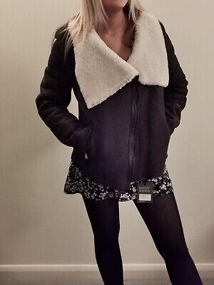 Ladies Shearling Biker Jacket