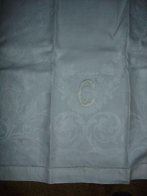 4 Antique Floral Damask Large Towels Mandel-Cohn Estate, fine quality