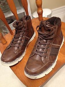 Men's Lined Leather-like Boots size 7