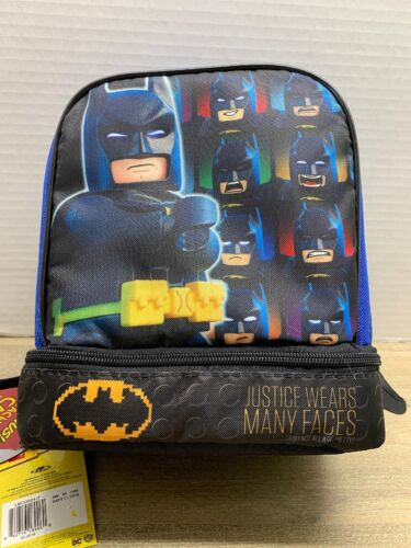 DC LEGO BATMAN DUAL COMPARTMENT LUNCH BOX with DETACHABLE CA