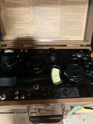 Vintage Portable Potentiometer Volt Millivolt Calibration In Wooden Case 2732
