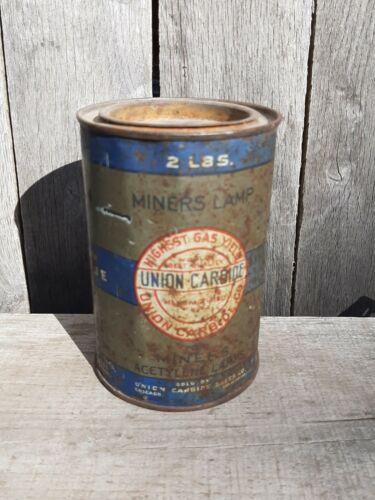 Antique miners carbide lamp tin union carbide