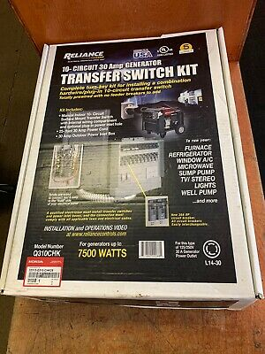 Reliance 10 Circuit 30 Amp Generator Transformer Switch Kit Q310chk