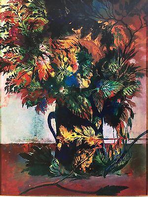 Ernst Fuchs Lithographie Blumen Blätter Arrangement Ex 13/400 signiert 60x41cm online kaufen