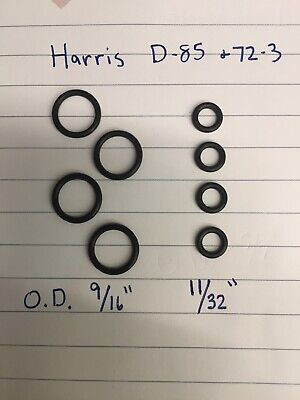 3 Sets Harris 72-3 D-85 Oxygen Acetylene Cutting Torch Mixer O Rings