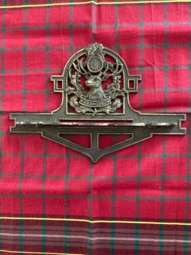 Vintage Brass BPOE Elk Lodge Pipe/Utensil Holder