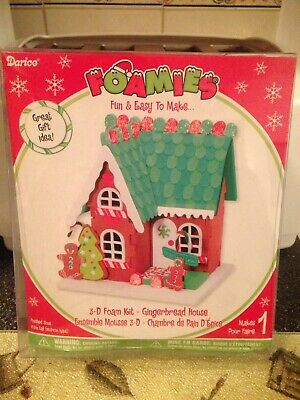 Fun Christmas Crafts For Kids (Darice Foamies 3D Gingerbread House Foam Kit Kids Crafts Christmas Decor Fun)