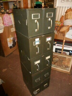 Vintage Cole Steel 5pc File Filing Cabinet