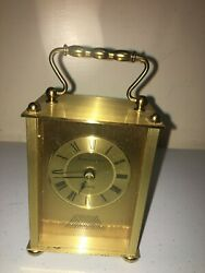 Portsmouth Quartz Gold Tone Desk Clock Made In Germany