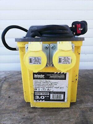 3kva 110V Transformer, 2 x 16 Amp Sockets,  Defender 3.0kVA Portable Transformer