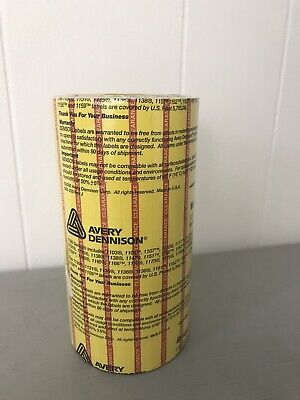 Monarch 1100 Series Senso Labels Clearance Yellow Red Avery Dennison Store Tag