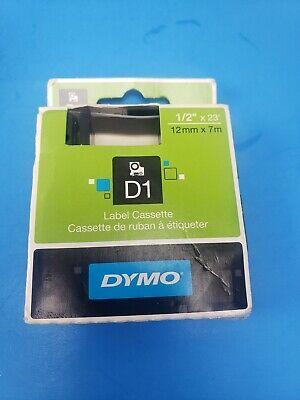 Dymo Standard D1 45013 Labeling Tape Black Print On White Tape 12 W X 23...