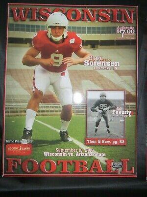 2010 UNIVERSITY OF WISCONSIN BADGERS VS ARIZONA STATE FOOTBALL (Arizona State Vs University Of Arizona Football)