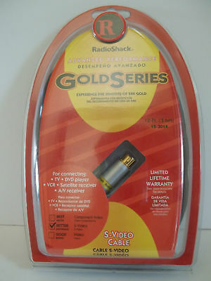 Radio Shack Gold Series S-Video Cable (12 FT) New Sealed Pack- S-video Cable Radio Shack