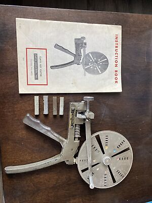Curtis Key Cutter Model 14 With Wheel And Parts.