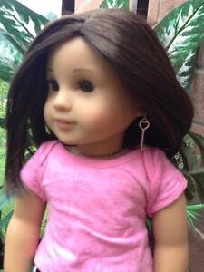 American doll heart key earrings