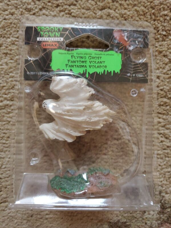 LEMAX RETIRED SPOOKY TOWN COLLECTION 2011 HALLOWEEN FLYING GHOST #12891 FIGURINE