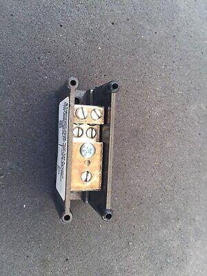 Ferraz Shawmut 62161 Power Distribution 1 Pole Terminal Block 4-14 Awg Cu 600v