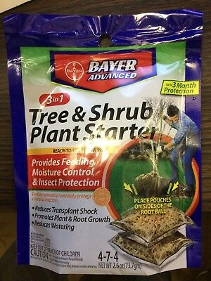- 2 Packages Bayer Advanced 01660 3-in-1 Tree & Shrub Plant Starter Throw