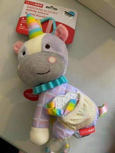 Skip Hop Bandana Buddies Baby Activity Teething Toy Multi-Sensory Rattle unicorn