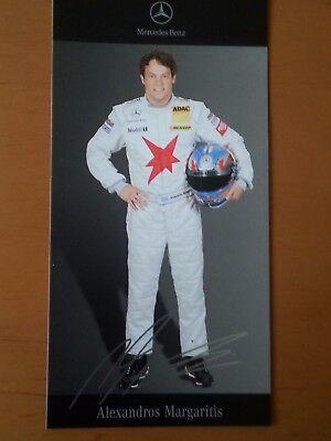 Alexadros Margaritis DTM 2007 Autogrammkarte gedruckte Unterschr. von Mercedes