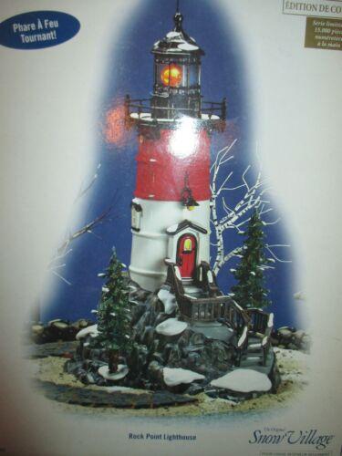"Dept 56 Snow Village ""Rock Point Lighthouse"" #56 55397 Brand New"