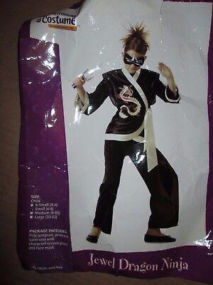 Halloween Ninja Costumes For Girls (Girls JEWEL DRAGON NINJA Halloween Costume S Sm  6 - 8 California)