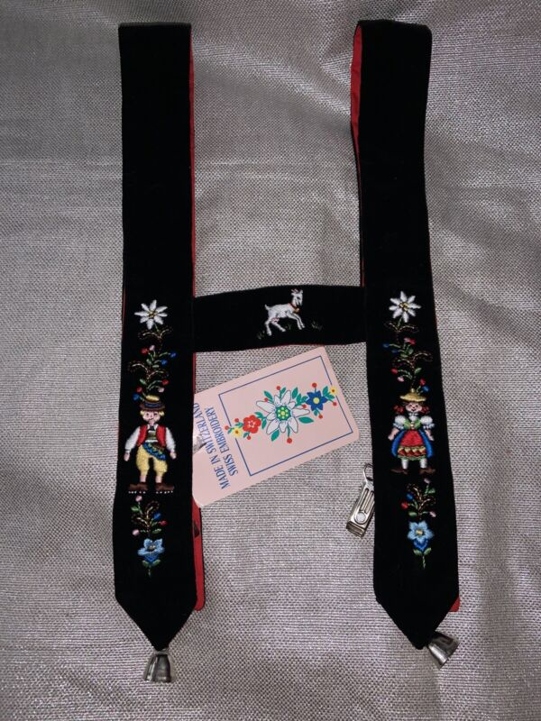Vintage German & Swiss Hand EMBROIDERED CHILD