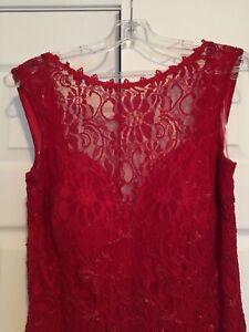 Sleeveless lace long dress