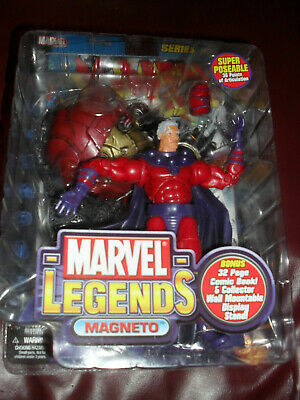 MARVEL LEGENDS SERIES 3 MAGNETO ACTION FIGURE TOY BIZ 2002 New