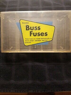 Vintage Auto Fuse Holder Case Buss Fuse Genuine