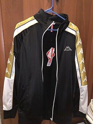 KAPPA Jacket Black/Gold Size XL NEW W Tags $100 RETAIL