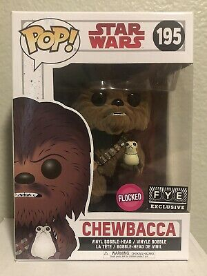 Funko Pop! Star Wars The Last Jedi Chewbacca (Flocked) #195 FYE Exclusive