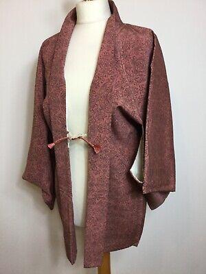 Vintage Authentic Silk Kimono Haori Jacket Royal Stylish #036
