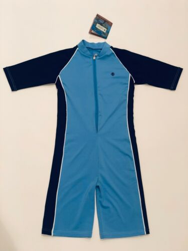 Coolibar Kids Neck-to-Knee Suit UPF 50+ - Small - Blue