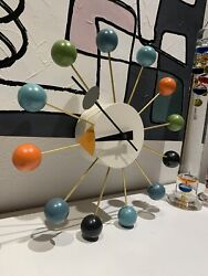 Original George Nelson Multi Colored Ball Clock by VITRA DESIGN MUSEUM Excellent