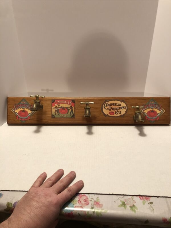 "Oak And Brass Coat / Hat Rack.  Handmade and Signed.  24""x 4.5"" New"