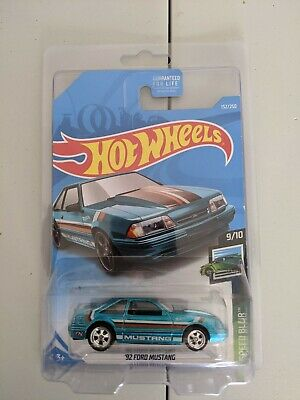 Hot Wheels Super Treasure Hunt 92 FORD MUSTANG With Protector.